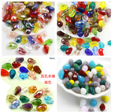 new 25pcs 6X8mm color Drop Crystal Loose Spacer beads brown crystal beads