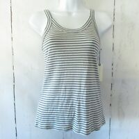 New Anthropologie Lacausa Tank Top S Small Blue Gray Stripe
