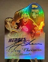 2001-02 Topps Stanley Cup Heroes Autographs #SCHA-GC Gerry Cheevers