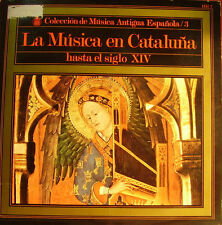 LA MUSICA EN CATALUÑA HASTA EL SIGLO XIV- LP + INSERT SPAIN 1968 RARE
