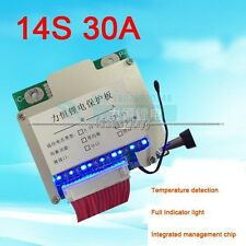 14S 48V Li-ion Lithium 30A 18650 Battery Protection Batterie BMS Board w Balance