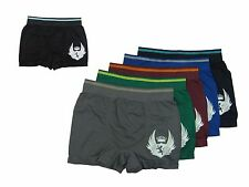 Lot of 6 Mens MICROFIBER BOXER BRIEFS Seamless One Size Fits Most S M L XL 35891