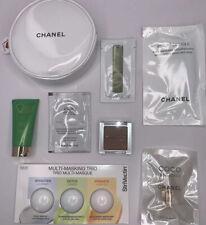 7 Pcs Makeup and Skin Care Sample Lot Chanel MakeUp Purse Clinique Elemis Kiehls