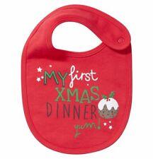 Baby Kid Boy Girl Red Xmas Dinner Bib Toddler Newborn Reborn Doll Babies Clothes