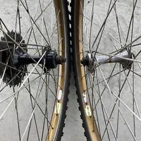 "Vintage Wheel Set 26"" Araya RM-20 Shimano Deore XT Mountain Bike 7s MTB GT 135mm"