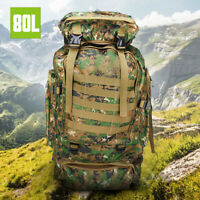 80L Bag Rucksack Outdoor Sport Tactical Backpack Hiking Camping Travel Daysack