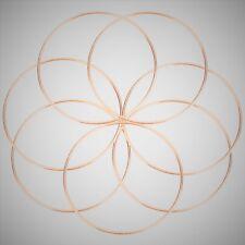 "4 x 9"" Strong Metal Copper Dreamcatcher/Macrame Craft Hoop/Ring & Free Cord"