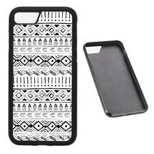 Black and White aztec pattern RUBBER phone case Fits iPhone