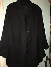 Essence Ladies Fully Lined Black Skirt Suit Size 22