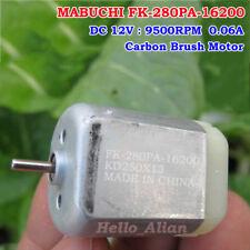 MABUCHI FK-280PA-16200 DC 12V 9500RPM Mini 280 Carbon Brush Motor for Car Lock