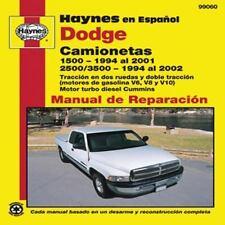 Dodge Camionetas: 1500 (1994 al 2001) y 2500/3500 (1994 al 2002) (Haynes en Espa