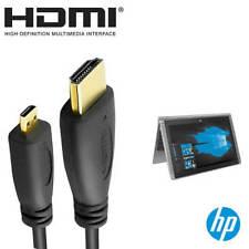 HP Pavilion X2 Laptop PC HDMI Micro auf HDMI TV Monitor 2m Gold Draht Hauptkabel