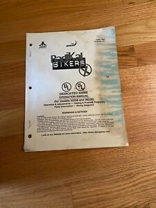 Radikal Bikers Dedicated Game Operation Manual, Atari 1998