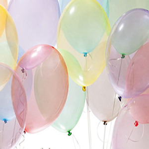 """10"""" 25CM BALLOONS CRYSTAL PASTEL Colours for Wedding Birthday Party"""