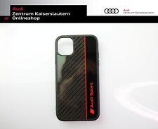 Audi Sport Smartphonecase, iPhone 11, Grau, Carbonoptik, Audi Sport Schriftzug