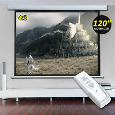 "HOMCOM 120"" Electric Motorized Projection Screen 4:3 16:9 Remote Control NEW"
