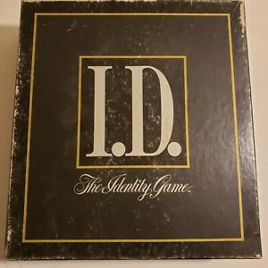 1988 I.D. The Identity Game Card Clue Guessing Rich and Famous