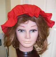 Victorian RED Mob Maid Mop Cap Fancy Dress Hat Accessory One Size Tudor