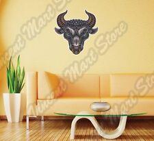 "Bull Head Beast Ox Taurus Wildlife Wild Wall Sticker Room Interior Decor 20""X25"""