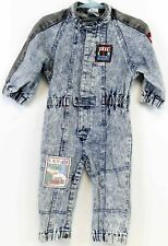 VTG Levis Toddler 2T Boys Jumper Denim Acid Wash Formula 1 Car Racing Pit Crew