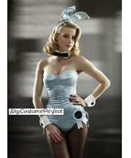 FREE WORLD SHIP Satin Playboy Bunny ANY COLOR COMPLETE Ears ECT Costume Blue A+