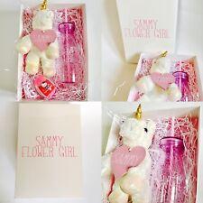 Personalised Flower Girl Birthday Unicorn Gift Box Pink Girl Children Hamper