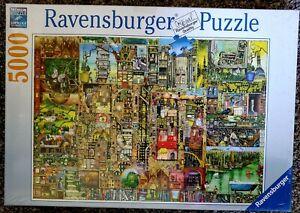 Ravensburger 174300 Bizarre Town 5000 Piece Jigsaw Puzzle Damaged
