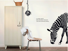 Animal Wall Sticker Wild Zebra Home Living Room Removable Vinyl Wall Decal Decor