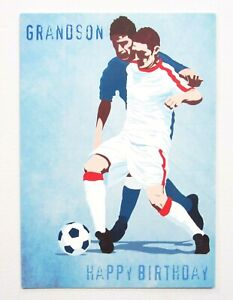 Happy Birthday Grandson Football Boys Greetings Card by Cards For You- Free P&P