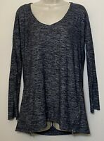 Splendid Anthropologie Small Shirt Dark Gray Long Sleeve Zipper Sides Tunic top