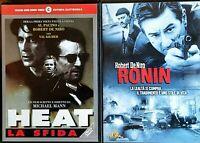 SERATA ACTION - RONIN (1998) + HEAT LA SFIDA (1995) 2 DVD USATI CECCHI GORI/MGM