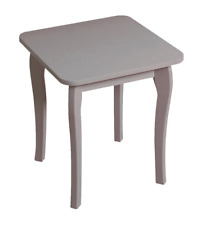 Steens Baroque French Vanity Dressing Table Stool in Grey
