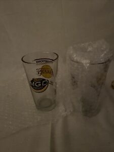 Lot 2 Los Angeles Lakers- Miller Genuine Draft -2000 Champions- Beer Pint Glass
