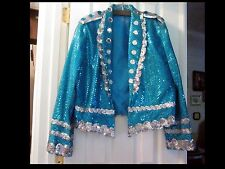 Custom Made Sequined Men's (Sz. S) or Ladies (Sz.4) Mardi Gras Jacket