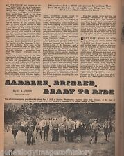 Overland Pioneer Horse Trip of 20,000 Miles+George W Beck on Pinto and Nip,