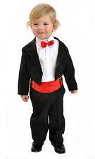5tlg Kinderanzug Jungen Frack Anzug Smoking Hochzeit Taufe Kommunion Gr.122/128