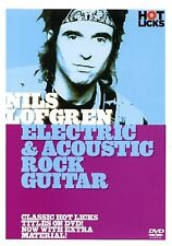 NILS LOFGREN ELECTRIC AND ACOUSTIC GUITAR HOT LICKS LICK LIBRARY DVD HOT161