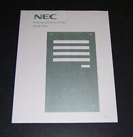 Lot of 5 NEC Dterm Series E DTP-16D-2 Desi Labels Paper NEW!