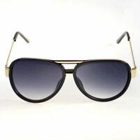 3 Pc 80s Extra LARGE Mens Vintage Retro Classic Fashion Aviator Sunglasses Black