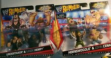 WWE MATTEL SET OF TWO RUMBLERS HORNSWOGGLE JOHN CENA MARK HENRY UNDERTAKER