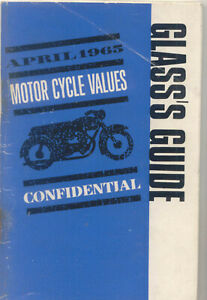 Glass's Guide Motorcycle Values Confidential April 1965 No 138