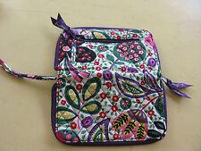 Vera Bradley Wristlet Wallet ID Credit Card Case Coin Pock.  Viva La Vera Purple