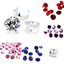 Cubic Zirconia loose gemstones beads jewellery making CZ AAAA Stones 9 colours