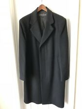 Men's Long Coat, Black, 46R, Wool And Cashmere