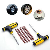 Hot Car Tubeless Tyre Tire Puncture Repair Plug Kit Needle Patch Fix Tool Cement