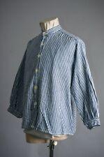 Vtg 40'S Euro German Hickory Stripe Workwear Shirt Jacket