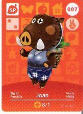 ANIMAL CROSSING amiibo KARTE: 007 - JOAN (SIGRID) (Special/Holokarte/mint)