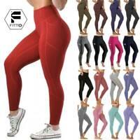❤Damen Yoga Gym Fitness Hose Push Up Leggings Sports Stretch Jogginghose Leggins