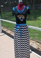 Jacksonville Jaguars Short Sleeve Maxi Dress Upcycled T-Shirts Small