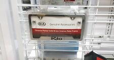 Kia Rio Chrome License Plate Frame UR010-AY100JB OEM 50 State Certified!